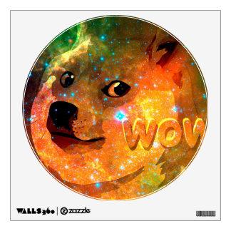 space - doge - shibe - wow doge wall sticker