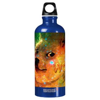space - doge - shibe - wow doge water bottle
