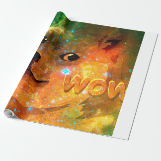 space - doge - shibe - wow doge wrapping paper