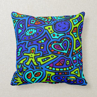 Space Doodle #1 Throw Pillow