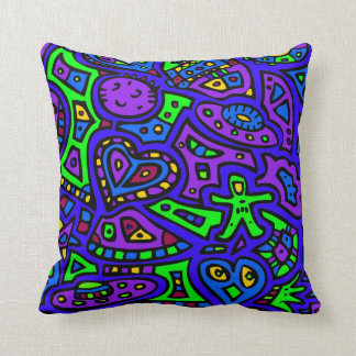 Space Doodle #2 Throw Pillow