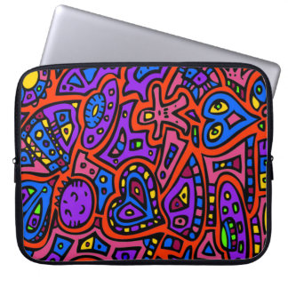 Space Doodle #3 Laptop Computer Sleeve