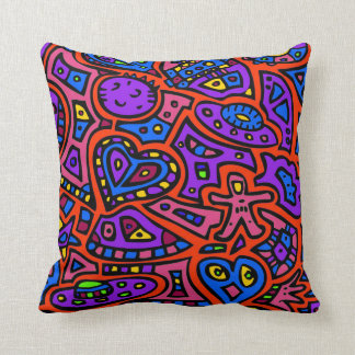 Space Doodle #3 Throw Pillow