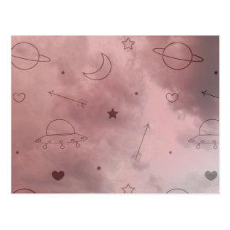Space Doodle Postcard