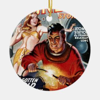 Space Electrician Ceramic Ornament
