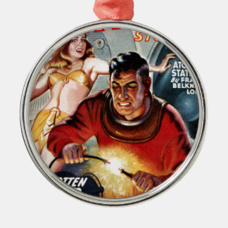 Space Electrician Metal Ornament