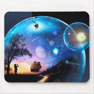 Space Exploration Artwork Voyager Spacecraft Mouse Pad