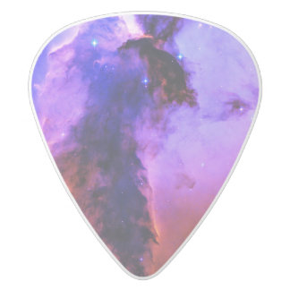 Space Fairy White Delrin Guitar Pick