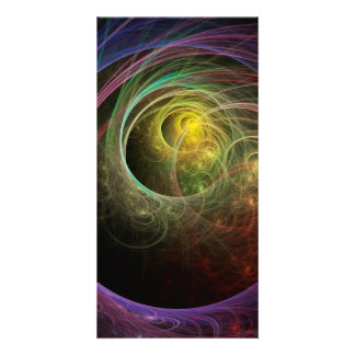 Space Fireworks Personalized Photo Card