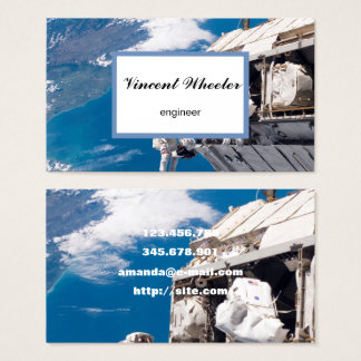Space flight, photo of Earth from Space Business Card