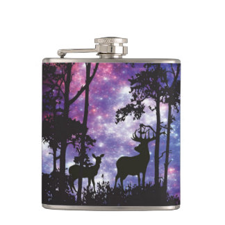 Space Forest with Deer Flasks