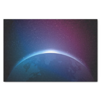 Space Galaxy Earth Illustration Tissue Paper
