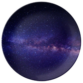 Space Galaxy Star Pattern Plate