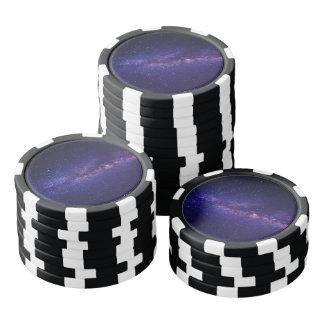 Space Galaxy Star Pattern Poker Chips