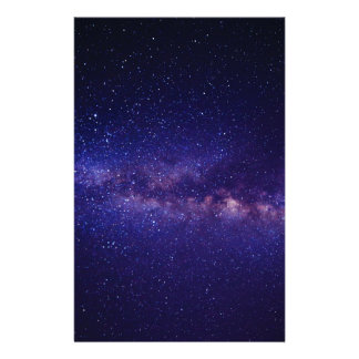Space Galaxy Star Pattern Stationery Design