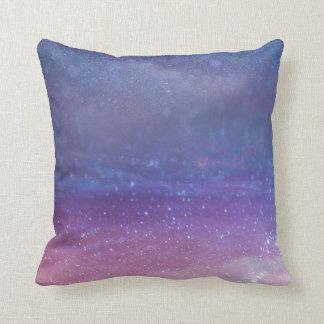 Space galaxy stars purple magical throw pillow