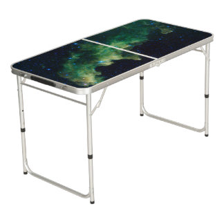 Space Galaxy Tailgate Beer Pong Table