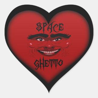 space ghetto heart sticker