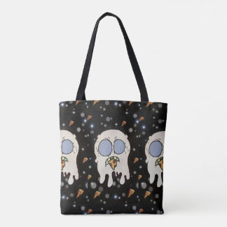 Space Ghost Eating Pizza Tote Bag