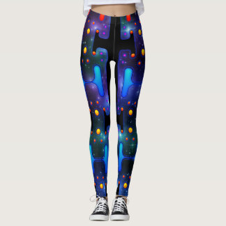 Space Girl Mechanical Android Futuristic Robot Leggings