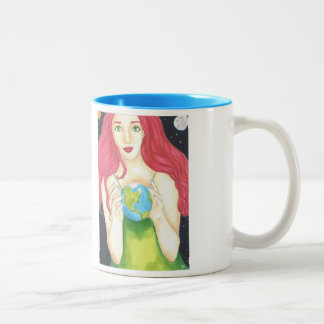 Space Girl Mug 11oz (White/Blue)