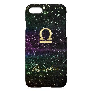 Space Glitter Zodiac Sign Libra iPhone 7 Case