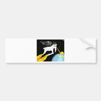 Space Goat Bumper Sticker