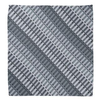 Space Gray Contemporary Abstract Stripe Pattern Bandana