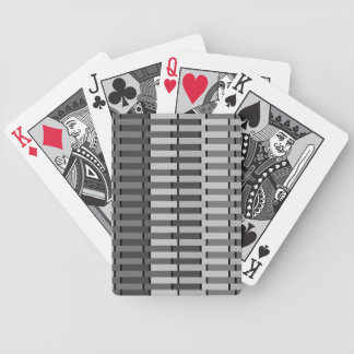 Space Gray Contemporary Abstract Stripe Pattern Bicycle Playing Cards