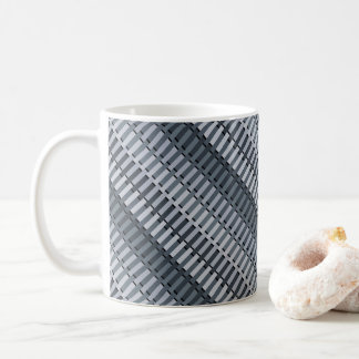 Space Gray Contemporary Abstract Stripe Pattern Coffee Mug