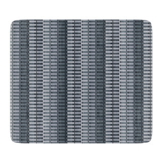 Space Gray Contemporary Stripe Pattern Cutting Board