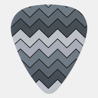 Space Gray Contemporary Zigzag Wavy Pattern Guitar Pick