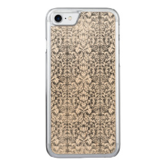 Space Gray Damask Weathered Print Carved iPhone 8/7 Case