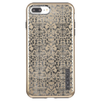 Space Gray Damask Weathered Print Incipio DualPro Shine iPhone 7 Plus Case