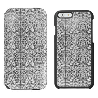 Space Gray Damask Weathered Print Incipio Watson™ iPhone 6 Wallet Case