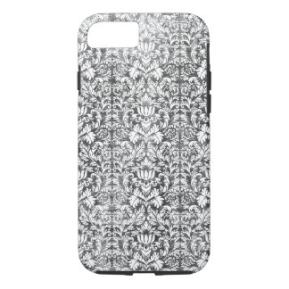 Space Gray Damask Weathered Print iPhone 7 Case