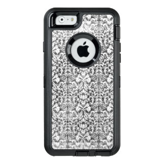 Space Gray Damask Weathered Print OtterBox Defender iPhone Case