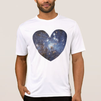 Space Heart Galaxy Love Print Astronomy Milky Way T-Shirt
