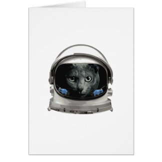 Space Helmet Astronaut Cat Card