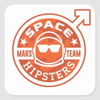 """Space Hipsters® MARS TEAM 3"""" Stickers"""