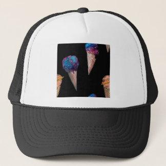 space hoists cream trucker hat