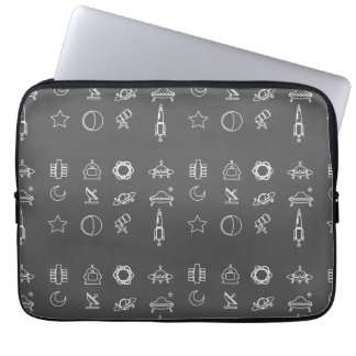 Space Icons / gray Laptop Sleeve