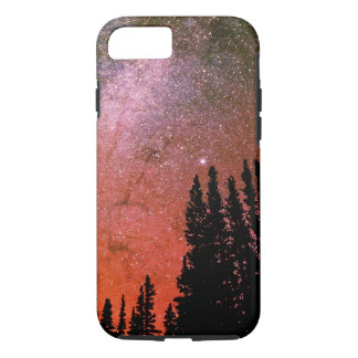 space in the woods Galaxy colorful iPhone 7 Case