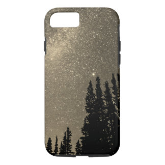 space in the woods Galaxy colorful sepia iPhone 8/7 Case