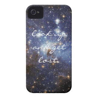 "Space iPhone cover ""look up and get lost."""
