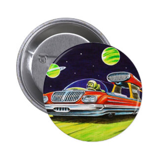 SPACE JET CAR 2 INCH ROUND BUTTON