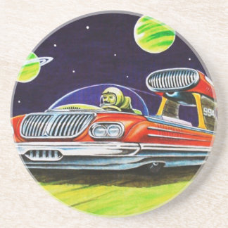 SPACE JET CAR BEVERAGE COASTER