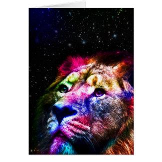 Space lion _caseSpace lion - colorful lion - lion Card