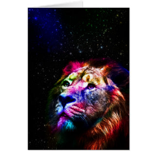 Space lion _caseSpace lion - colorful lion - lion Card