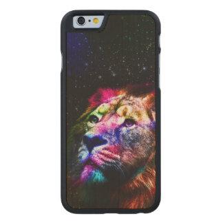 Space lion _caseSpace lion - colorful lion - lion Carved Maple iPhone 6 Case